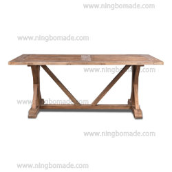Venta caliente país rústico de la naturaleza de la esquina colección de antigüedades del país recuperó el Elm mesa de comedor
