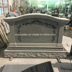 [سرب] علبيّة ينقش زهرات علامة الصين رماديّ صوان لأنّ نصب تذكاريّ حديقة