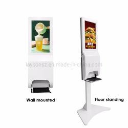 De Digitale Signage Adverterende Speler van verschillende media met de Automaat van het Desinfecterende middel van de Hand voor de Hand van de Was; Speler van de Advertentie van de Media van het netwerk de Video met HD LCD van 21.5 Duim Vertoning