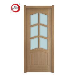 Внутреннее стекло ПВХ древесины высококачественных стандартного размера Inn двери в зал