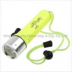 プロ用ポータブル LED 水中ダイビング懐中電灯ランタントーチランプアルミニウム ダイビングプラスチック LED ダイビングライト、マグネティックスイッチダイビング付き 25 m