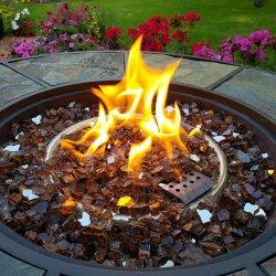 Comercio al por mayor hermosos interiores de vidrio Material de vidrio de fuego de chimenea