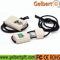 Лазерный логотип экологически чистые деревянные шнурок USB Flash Driver 8 Гбайт