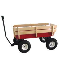 As crianças grossista populares de metal e madeira de brinquedo Carrinho de Vagão de mão tc1801