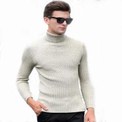 Inverno quente espesso Turtleneck Mens Borders Slim Pulôver camisolas