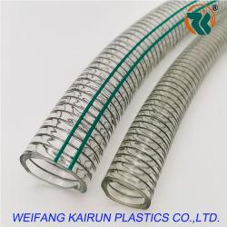 Espiral de PVC industrial reforzado con alambre de acero y caucho agua/aire/aspiración/mangueras de jardín
