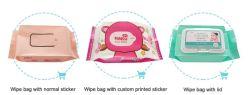 Mylar de impresión personalizados refuerzo lateral de embalaje para bolsas toallas húmedas de bebé Limpie