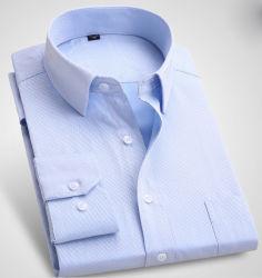 Camice Button-Down di misura della camicia di vestito dal Mens della fibra di bambù elastica lunga sottile dei manicotti
