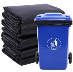 Ficha preta de Serviço Pesado de lixo plástico bag saco de lixo saco de polietileno saco de lixo