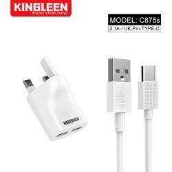 10 Вт с двумя портами USB домашний стены дорожное зарядное устройство + тип C функцией быстрой зарядки разъем для LG Galaxy S8/примечание 8 Huawei