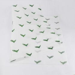 Marchio su ordinazione di colore verde di alta qualità che sposta la carta velina