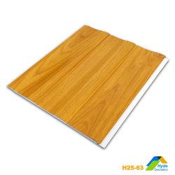 Pannello per tetto in PVC a onda larga da 250 mm, piastrelle per soffitto in legno 3D Per decorazioni a parete