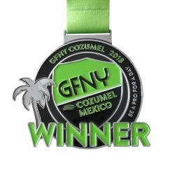Medallas personalizadas profesional medalla deportiva aniversario bordados/PVC/metal esmaltado insignia de solapa insignias