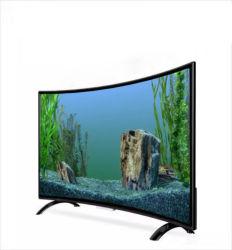 50 55 65 polegada smart TV' ' levou 4K Smart Curved TV Full HD grande publicidade na televisão de tela plana 4K Smart