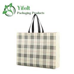 Non-Woven Tassen horizontale stijl Kleding Shopping Gift Custom Printed Geruit patroon