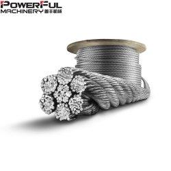 Cable de acero galvanizado o Ungalvanized Cuerda Cable con todos diferentes, la construcción
