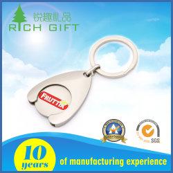 Het in het groot Zilver dat van het Metaal van de Douane van China Goedkope Lege Draaibare Keychains voor Bevordering met een laag bedekt