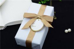 Ruban cadeau Bow Logo de ruban de gros de fleurs de Luxe avec cravate Polyester Pre-Made personnalisé pour les vêtements de bébé