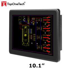 저렴한 10.1인치 오픈 프레임 투영 정전식 다중 지점 터치패널 산업용 IPS TFT가 장착된 터치 스크린 센서 LED 모니터 LCD 디스플레이 DVI VGA HDM