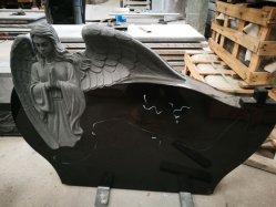 Coeur noir et brillant Shanxi avec Angel Monument de pierre tombale &