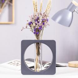 Nouveau design de haute qualité à l'intérieur décoratifs en verre résine Flower Pot titulaire Vase de fleurs