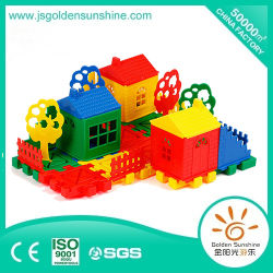 Juego educativo de Puzzel del juguete del juguete del juguete de los niños del edificio del bloque plástico de escritorio del ladrillo