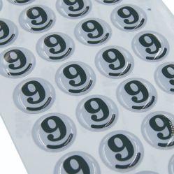 Etiket van de Sticker van de Koepel van de Douane van de Prijs van de fabriek het Epoxy met de Kleefstof van 3m
