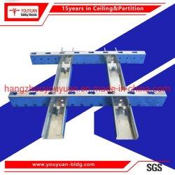 Suministro de camiseta de la fábrica de metal de la barra de techo suspendido T Runner para panel Gyspsun
