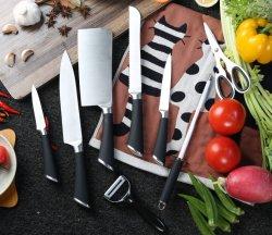 TPR ручку 9 ПК полезных кухонных ножей с акриловым ручки