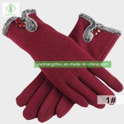 Venda a quente Fashion Senhoras quente luvas de algodão Tamanho médio de outono e inverno