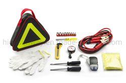 Kit de Ferramentas de Reparação Automóvel automóvel de Reparação de Emergência Kits Combo de mão Bolsa de ferramentas do conjunto de reparação automóvel carro triângulo de aviso do Kit de ferramentas Car Kit de Ferramenta de emergência de segurança rodoviária