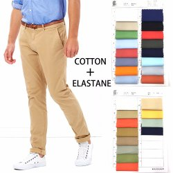 Hot Vente de tissu à armure sergé de coton Spandex Stretch pour pantalons