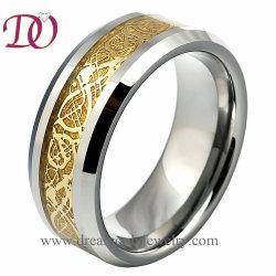 Свадебные украшения оптовой мода украшения 18K Gold Celtic Dragon золото вольфрам кольцо