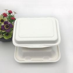 """Banheira de vender descartáveis biodegradáveis bagaço de cana-de-louça de 9"""" x 6"""""""