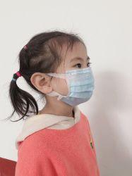 Três camadas de proteção, Filtragem eficiente, três camadas de Ear Travando Azul infantis máscara descartável