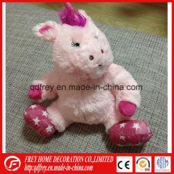 Giocattolo riscaldato da microonde dell'unicorno della peluche dello scaldaletto per il bambino