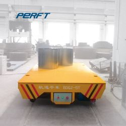 El uso industrial plana motorizado Cesta de la bobina de 10t Flat Car