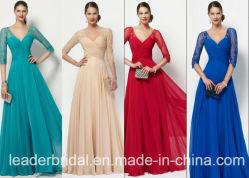 3/4 mère de chemises de la robe de soirée Chiffon de bal d'étudiants de lacet de robe nuptiale M27134