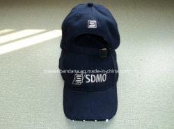 A fábrica produzir Design Personalizado Sarjado Algodão bordadas Boné Preto Hat com luz de LED
