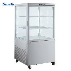 Frigorifero dritto del refrigeratore del dispositivo di raffreddamento del frigorifero del portello di vetro della bevanda del supermercato della visualizzazione