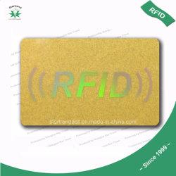 De plastic VIP Kaart van pvc van de Loyaliteit van de Kaart van de Gift van de Kaart met Goud van de Zegel van de Serigrafie het Gouden/Hete/het Stempelen van de Laser Goud