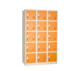Utilisation de l'école Dressing room 15 Portes armoire en acier casier métallique