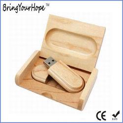 Caixa de madeira Embalagens de madeira personalizada de logotipo USB Key (XH-USB-127)
