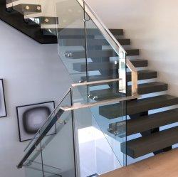 Einfache Indoor Stahl Stair Mono Stringer Gerade Treppe Design Modern Handlauf Aus Edelstahl/Holz