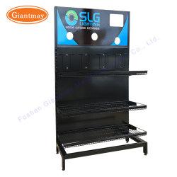 Banco di mostra d'attaccatura al minuto della mensola del cestino di memoria del nastro metallico dei prodotti di illuminazione