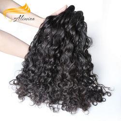 Cheveux humains pleine main liée vierge ondulées Indian Remy Hair