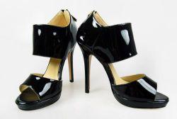 Высокая мода вертикально дамы Peep Toe благоухающем курорте обувь