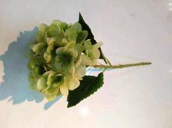 녹색 인공적인 Hydrangea 꽃 플라스틱 Hydrangea 꽃 합성 Hydrangea 꽃 가짜 Hydrangea 꽃