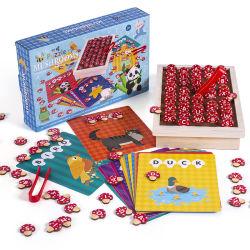 Джунгли гриб заклинание обучение игры деревянные игрушки образования головоломки игрушка соответствующие письма алфавит слова игрушки для детей