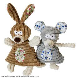 Plüsch-fehlerfreie nette Kaninchen-Elefant-Haustier-Quietschen-Hundespielwaren-Haustier-Kauen-Spielwaren